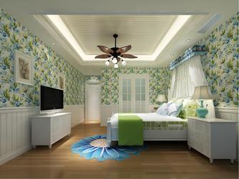 140平米四田园风格卧室图