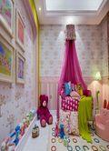 130平米三室两厅田园风格儿童房图