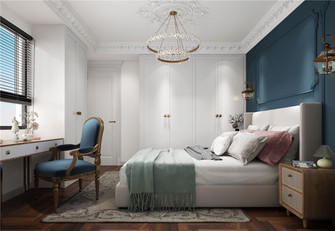 80平米三室一厅法式风格卧室图片大全