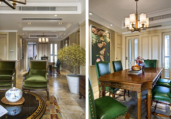 140平米四室三厅新古典风格餐厅装修图片大全
