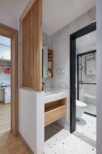 70平米三室一厅日式风格卫生间设计图
