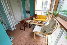 经济型90平米三室一厅美式风格阳台图片