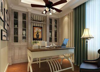 130平米三室三厅现代简约风格书房图