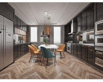 140平米四室一厅英伦风格厨房欣赏图