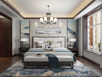 140平米四室两厅中式风格卧室装修案例
