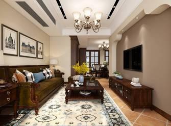 110平米三室一厅新古典风格客厅图片大全