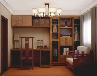 60平米三室一厅中式风格书房图
