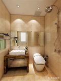 110平米三室两厅现代简约风格卫生间浴室柜效果图