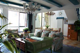 80平米复式田园风格客厅设计图