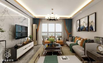 90平米三室三厅中式风格客厅图