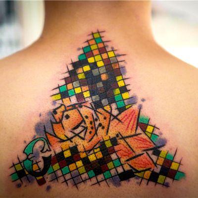 马赛克纹身款式图
