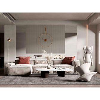140平米复式混搭风格客厅装修图片大全