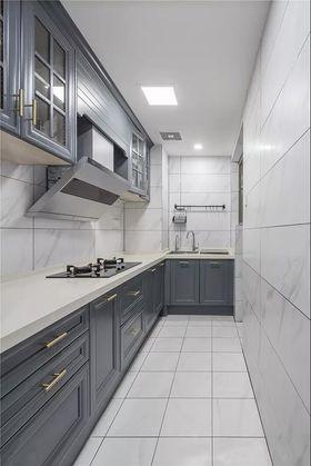 120平米三室兩廳美式風格廚房圖