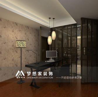 经济型100平米三室两厅中式风格书房背景墙图片大全