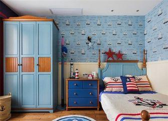 140平米三室一厅田园风格儿童房图片大全