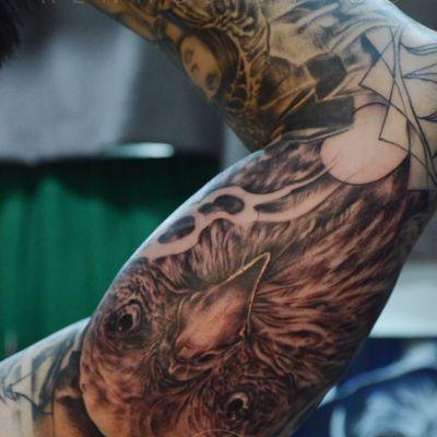 作品--鹰纹身款式图