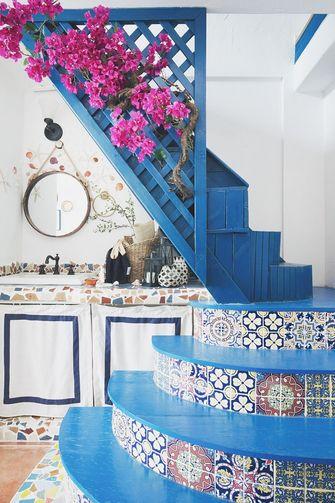 60平米公寓地中海风格楼梯间设计图
