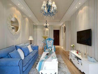 90平米三室一厅地中海风格客厅设计图