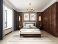 130平米三室两厅中式风格卧室装修效果图