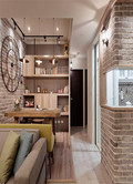 100平米三室两厅英伦风格玄关装修效果图