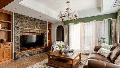 140平米三室一厅田园风格客厅图片大全