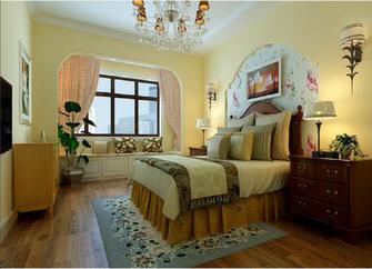 90平米三室一厅田园风格卧室效果图