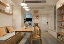 80平米三室两厅北欧风格餐厅图