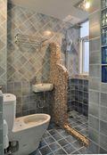 130平米公寓地中海风格卫生间装修图片大全