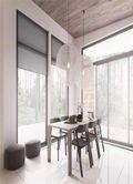豪华型140平米四室六厅现代简约风格餐厅装修图片大全