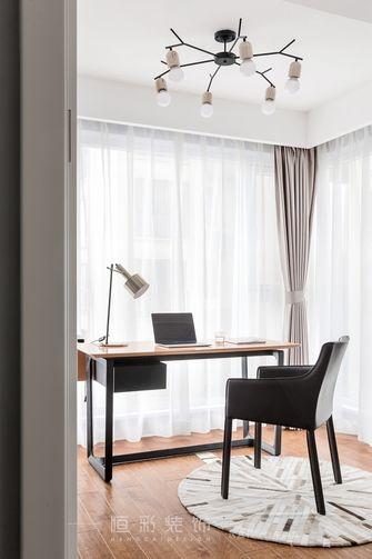富裕型110平米四室两厅现代简约风格书房图片大全
