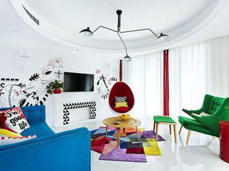 100平米三室一厅田园风格客厅装修效果图