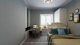 110平米三室一厅田园风格儿童房装修图片大全