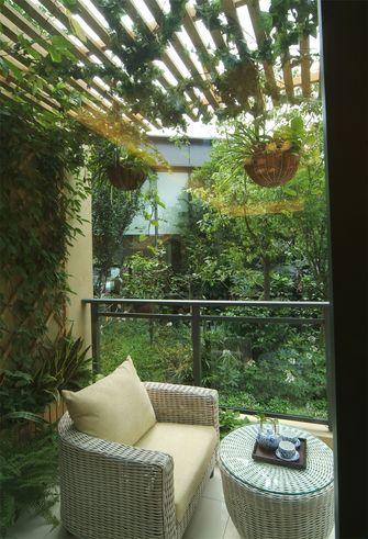 120平米三室两厅田园风格阳台图片