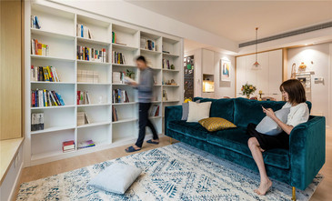 50平米北欧风格客厅图片