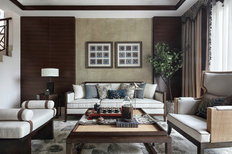 140平米别墅东南亚风格客厅图