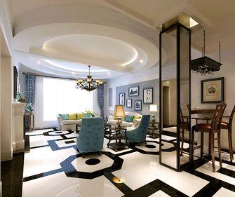 140平米复式美式风格客厅设计图