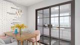 130平米三室三厅北欧风格餐厅设计图