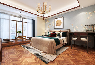 110平米复式中式风格卧室装修图片大全