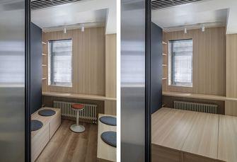60平米三室一厅日式风格书房装修图片大全