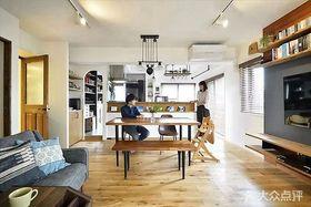 80平米日式風格餐廳效果圖