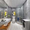 100平米三室两厅田园风格卫生间设计图