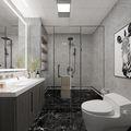 140平米三室三厅混搭风格卫生间图片