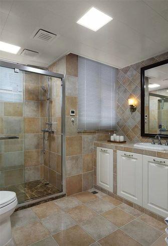 130平米三室一厅美式风格卫生间欣赏图