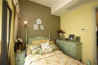 120平米三室一厅田园风格卧室装修图片大全