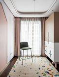 140平米三室两厅北欧风格衣帽间装修图片大全