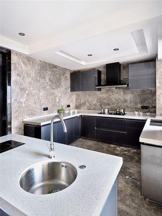 130平米三室两厅英伦风格厨房图片