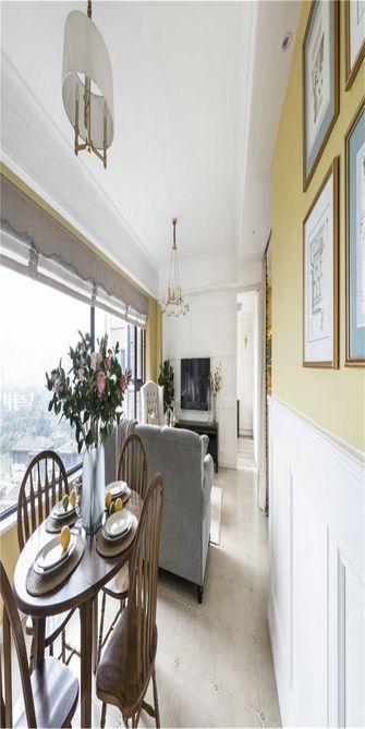 80平米一居室美式风格餐厅装修图片大全