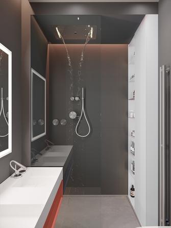 140平米四室一厅现代简约风格卫生间图片