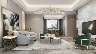 110平米三室三厅现代简约风格客厅装修效果图