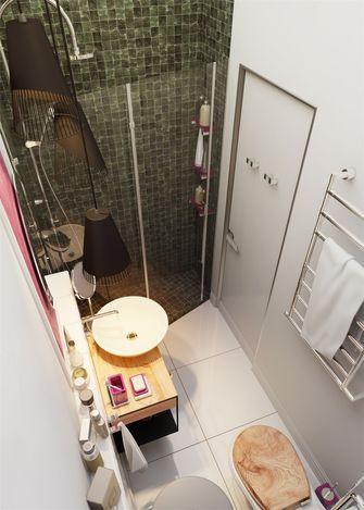80平米田园风格卫生间装修案例